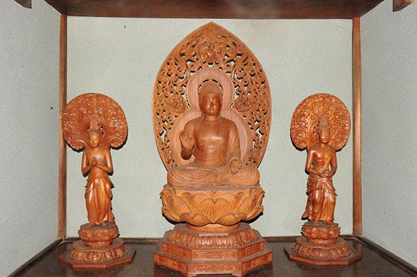 阿弥陀三尊像 スリランカ ソーマパーラ作